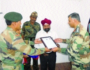 Rajpal Singh bestowed with Commendation Card Award-2017