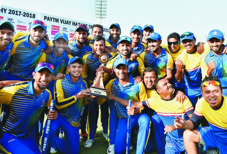 Mayank, Gowtham power Karnataka to Hazare title