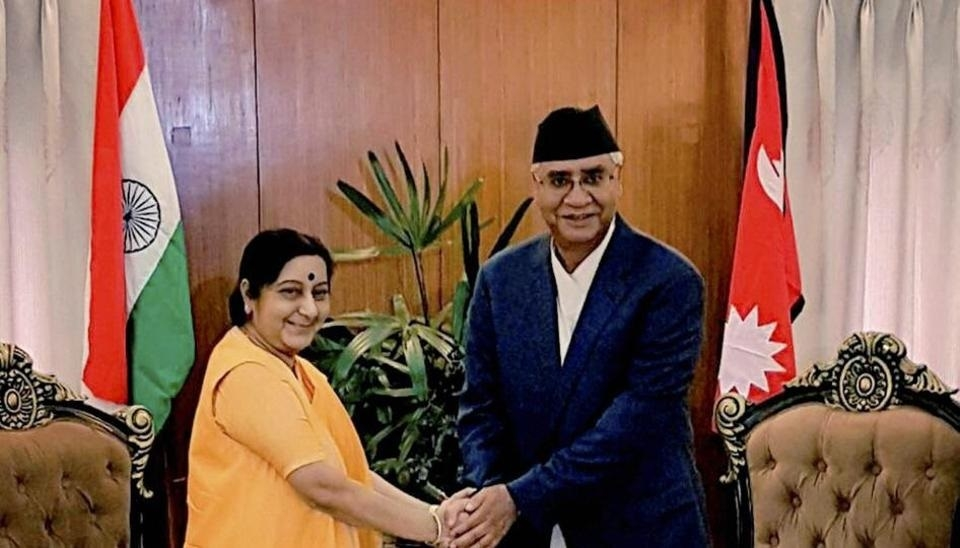 India looks forward to work with new Nepal Govt: Sushma Swaraj