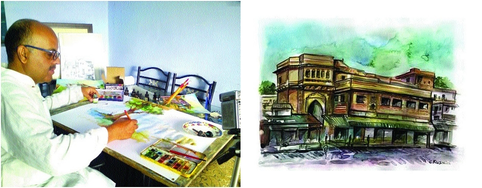 Hues of 'Purana Bhopal' coming alive on canvas of Faisal Mateen
