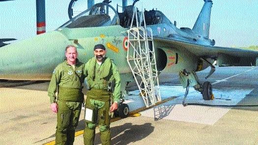 US Air Force Chief Goldfein flies Tejas
