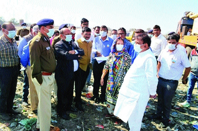 Collector, Mayor, BMC Commr visit Bhanpur site
