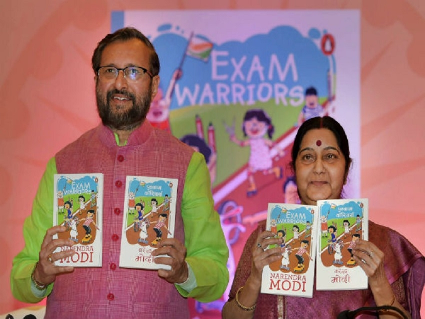 Modi pens book for students, asks them to celebrate exams