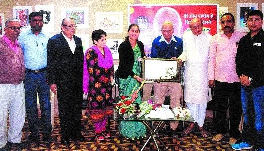 Artist Om Pandey's painting expo begins