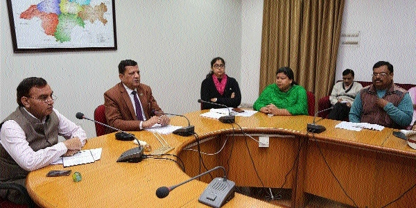 Collector Choudhary conducts Time Limit meeting