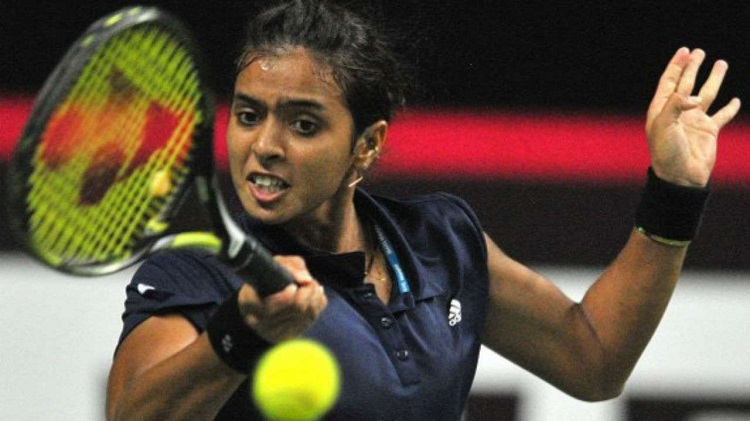 Ankita shines again but doubles lets India down