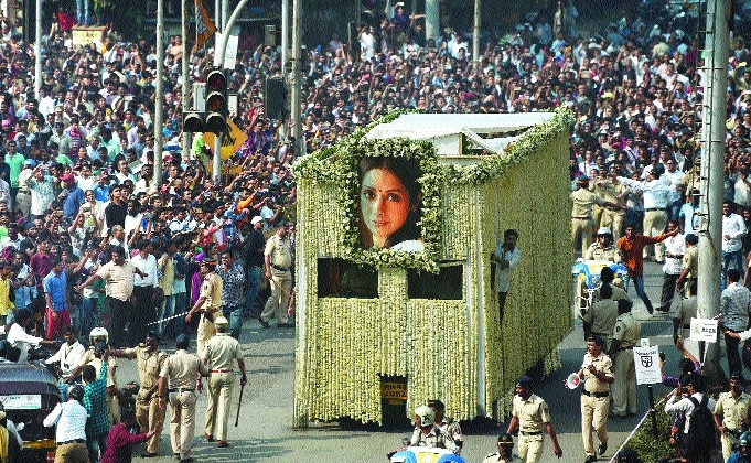 Sridevi given tearful adieu