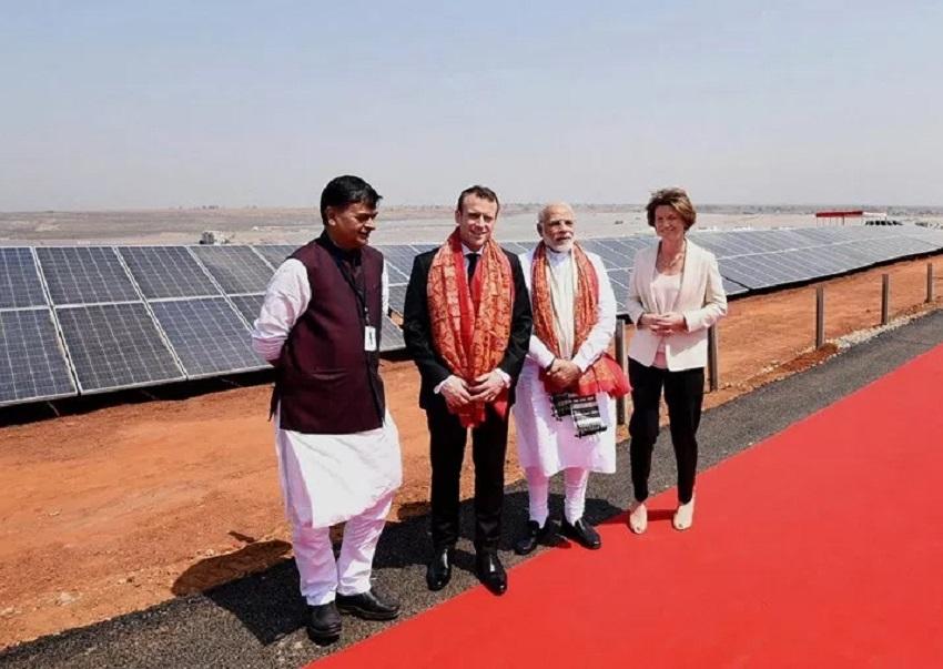 Modi, Macron inaugurate UP's biggest solar power plant