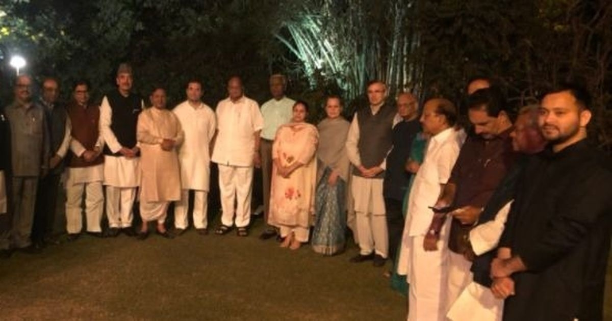 Sonia Gandhi hosts dinner for Opposition parties