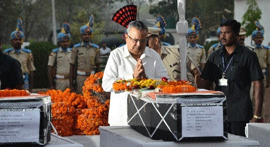 Martyrs given tributes with full State honours