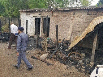 Three of a family killed in fire mishap