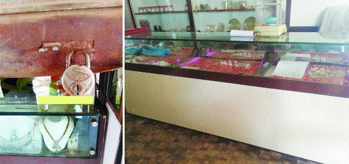 Thieves decamp with ornaments worth over Rs 2.25 lakh from jewellery shop