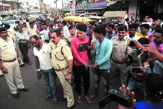 3 murder accused paraded in public