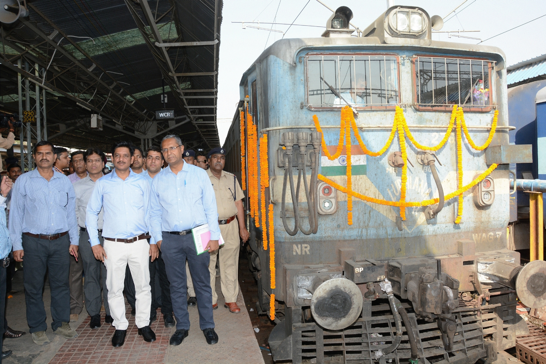 First electric loco train flagged off from Jabalpur