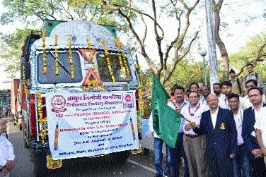Maiden consignment of anti-tank ammunition flagged off at OFK