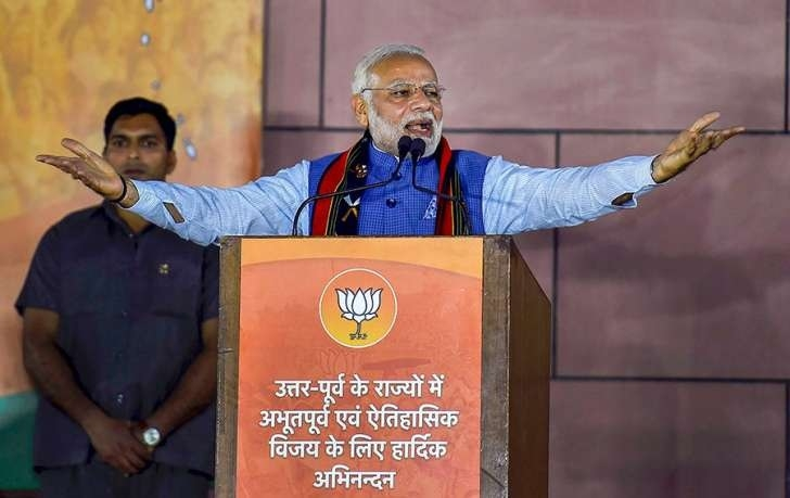 Cong never so diminished as it is now, says Modi