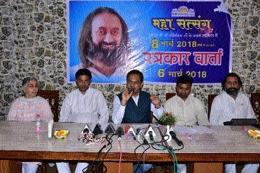 Preparations on war-footing for Sri Sri's visit