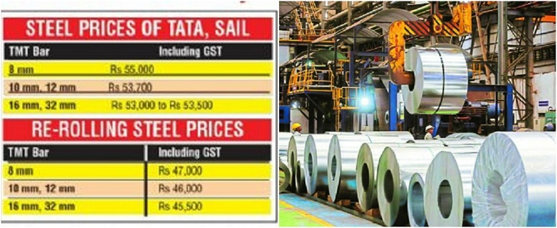 Steel pierces Rs 50,000-mark per tonne