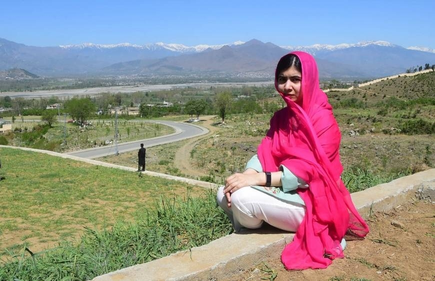 Malala visits home town in Pak where she was shot