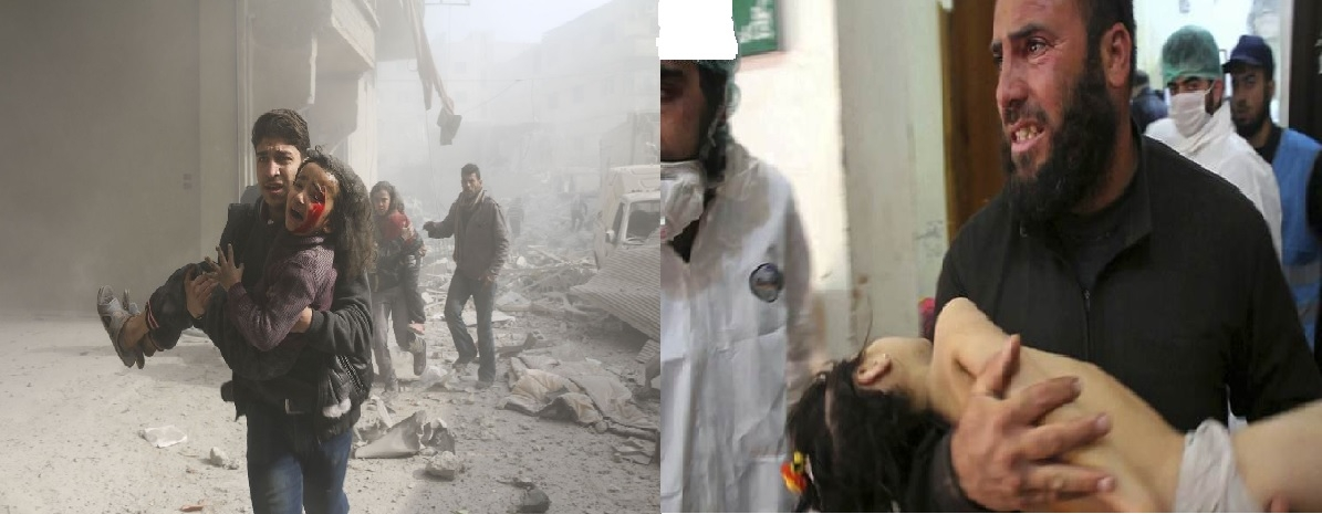 A day after chemical attack in Syria