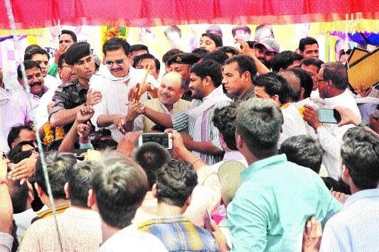 Hardik Patel visits Garhakota to participate in Krishi Sammelan