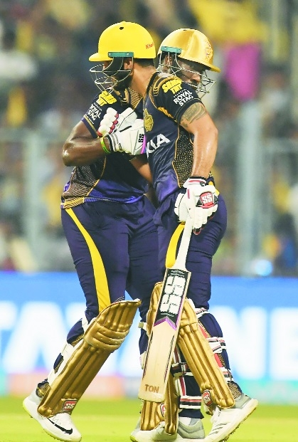 Rana, Russell shine as KKR beat Delhi by 71 runs