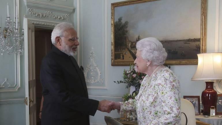 Modi calls on Queen Elizabeth II