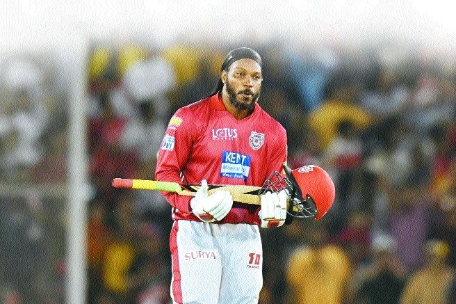 Gayle hits ton as Punjab beat Sunrisers