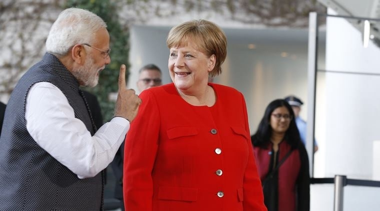 Modi, Merkel discuss ways to boost ties