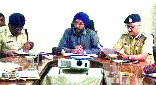 IG Singh reviews pending cases of Chit Fund Companies in distt