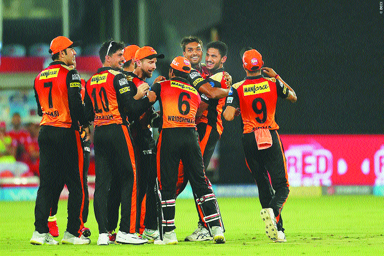 Bowlers Rise, batters sink Sunrisers Hyderabad beat Punjab in a low-scoring game