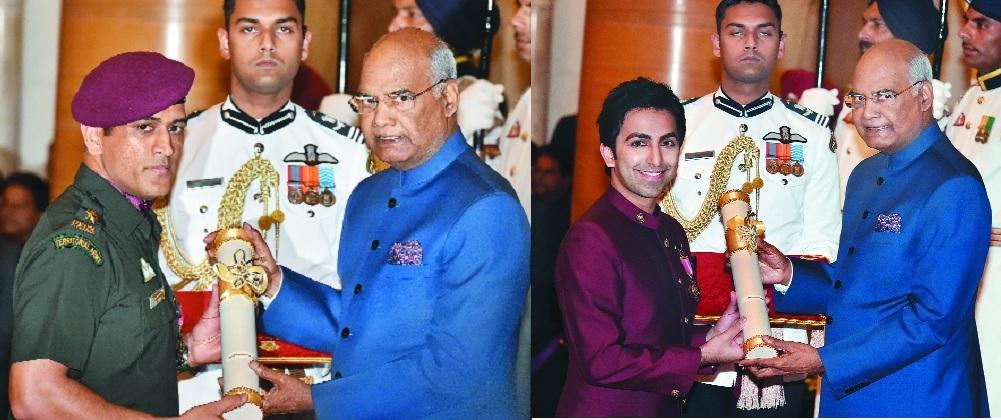 Dhoni, Pankaj Advani among 43 presented Padma by President