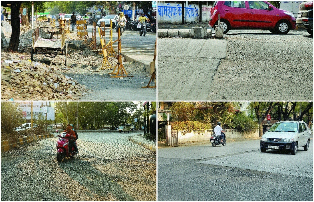 Incomplete cement roads, uneven ramp increases accidents in city