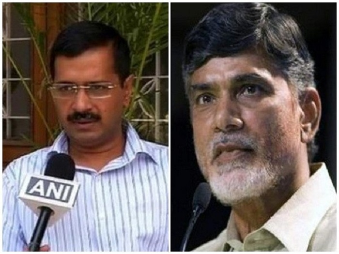 Naidu meets Kejriwal to garner support for no-trust vote
