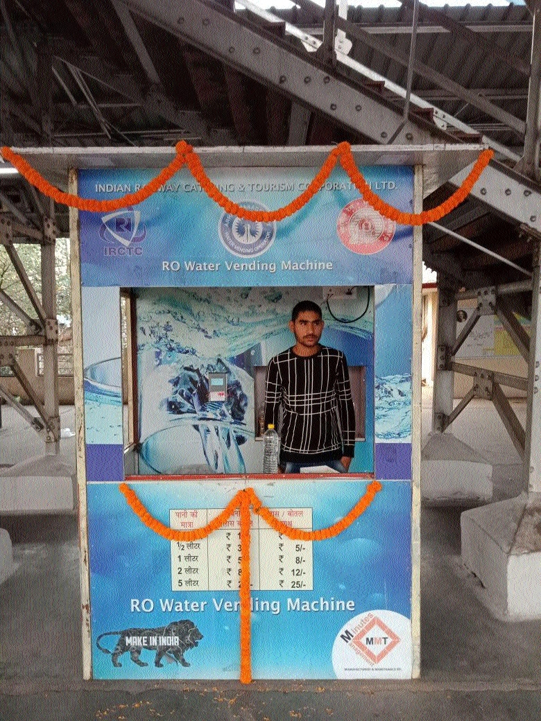 Power House Rly station gets 12 water vending machines
