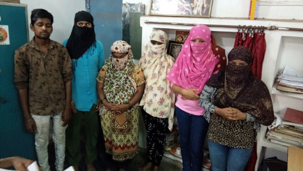 Police bust flesh trade, arrest 5 women, man