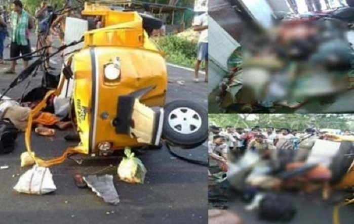 10 killed as truck rams into two auto-rickshaws in MP