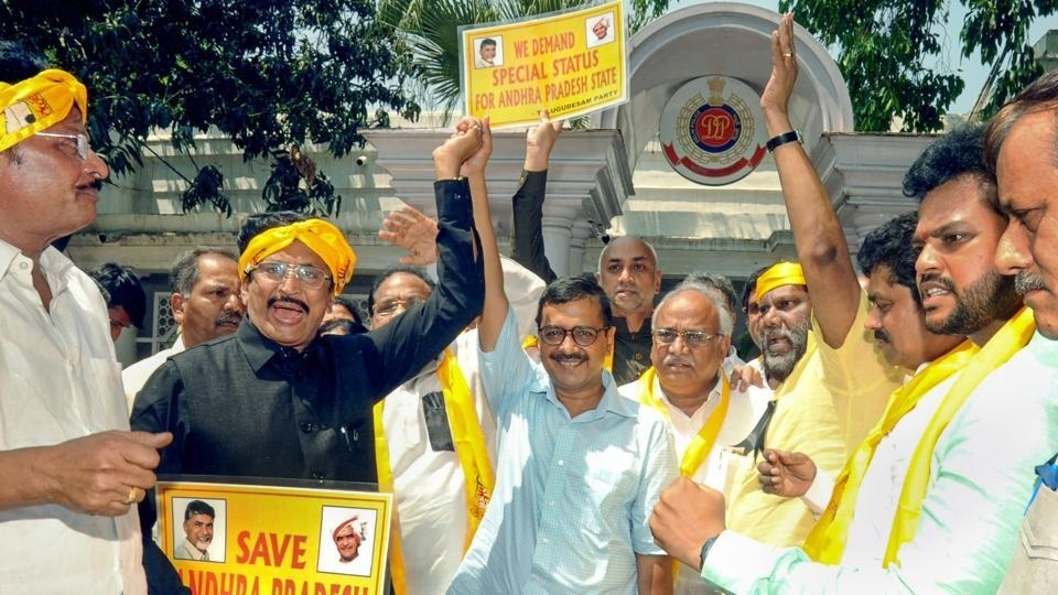 TDP MPs try to protest near Modi's residence, detained
