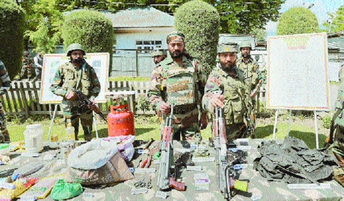Four LeT militants held in Kashmir