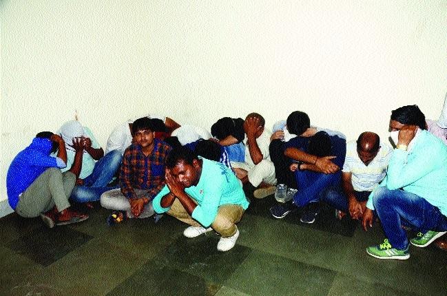 Five policemen among 22 held for gambling in Char Imli