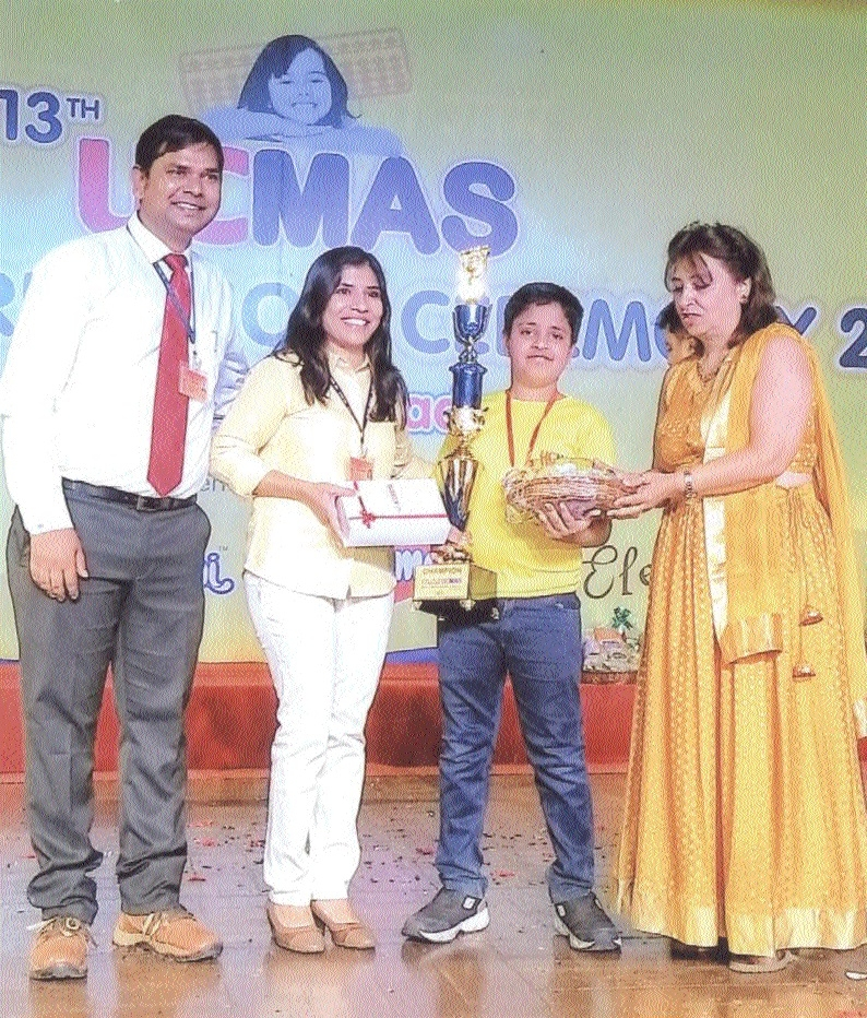 Sheersh Sahu excels in 13th Ucmas State-level Competition