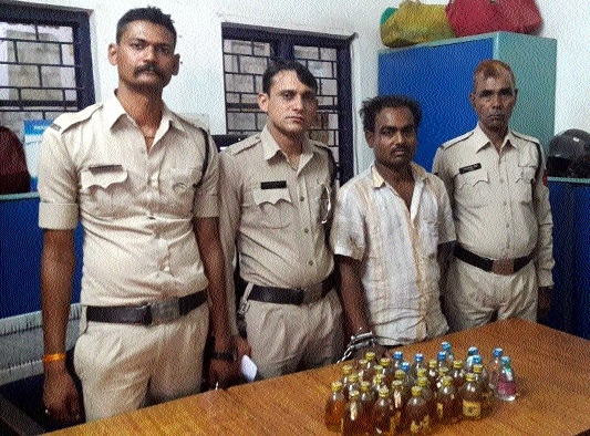 Police seize 75 bottles of liquor