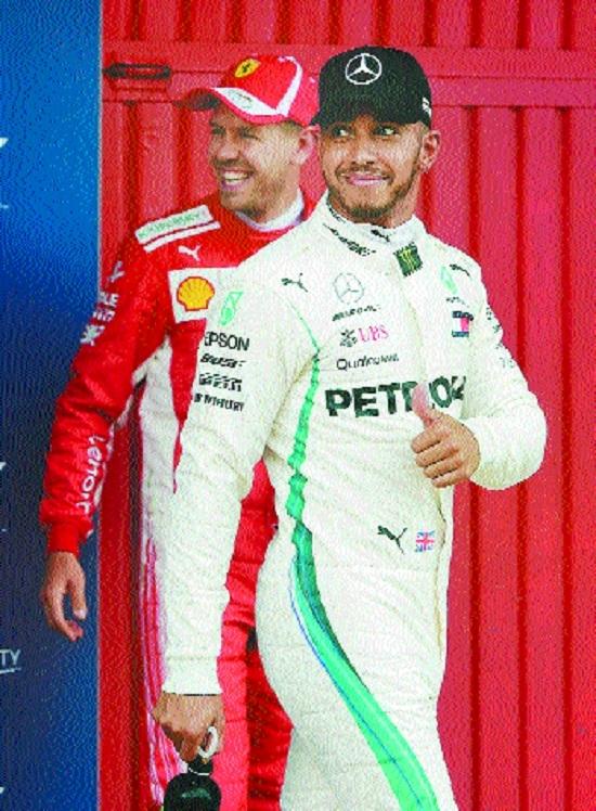 Hamilton ends Vettel's pole run in Spain
