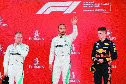Hamilton wins in Spain