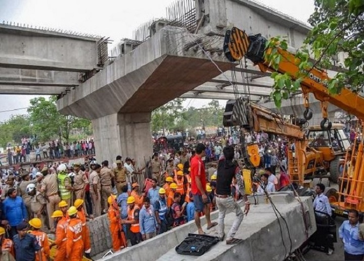 FIR against officials in Varanasi flyover collapse