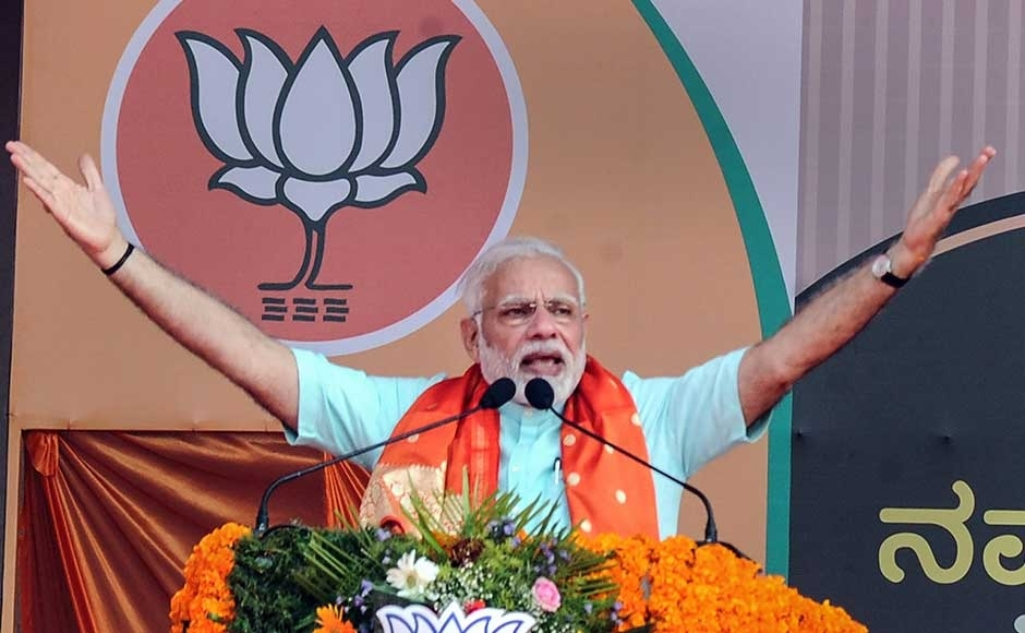 Modi dares Rahul to speak for 15 minutes minus paper