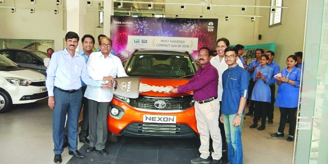 Aditya Cars delivers city's first Tata Nexon AMT to customer