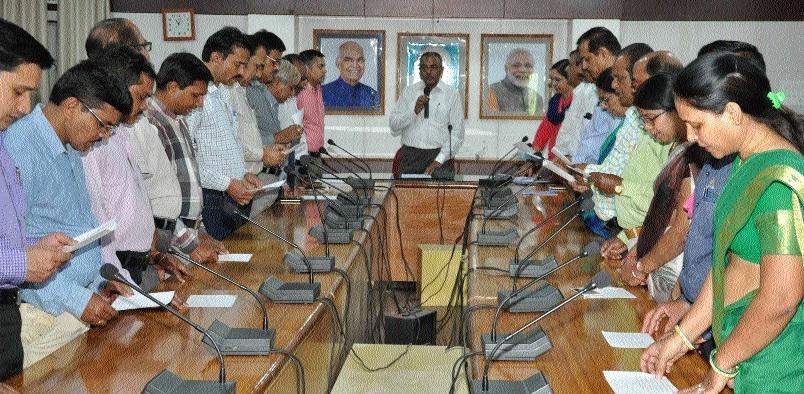 Raj Bhawan staff, officers administered oath on 'Anti-Terrorism Day'