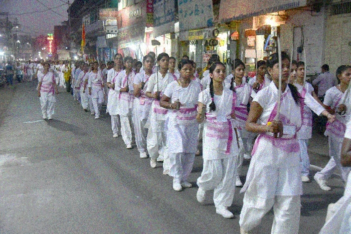 Over 175 women, girls participate in Path Sanchalan