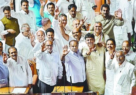 Kumaraswamy wins trust vote